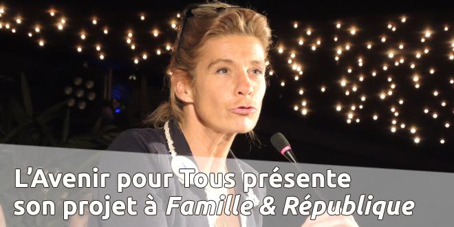Présentation du projet de réforme de la loi Taubira devant l'Institut Famille & République