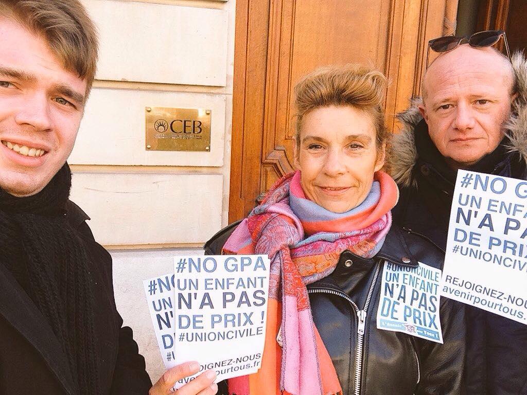 Devant le Conseil de l'Europe, L'Avenir pour Tous manifeste contre la GPA