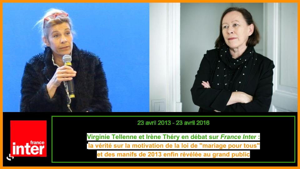 Ecoutez Virginie Tellenne et Irène Théry en débat sur France Inter :