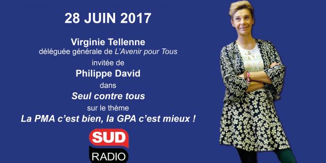 Virginie Tellenne invitée de Seul contre tous sur Sud radio