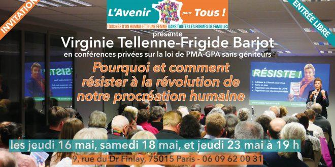 Révolution de notre procréation : INFORMEZ-VOUS LES 16, 18 ET 23 MAI !