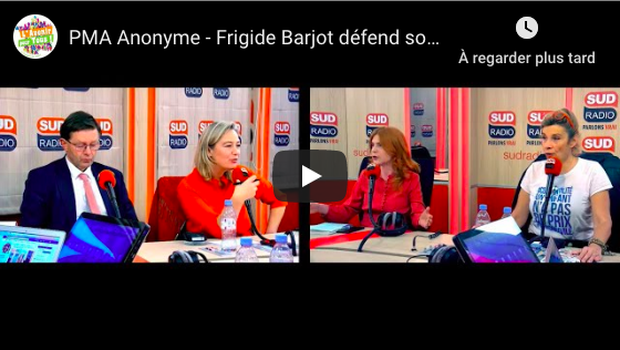 PMA Anonyme – Frigide Barjot défend son projet alternatif de coparentalité sur Sud Radio